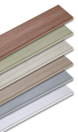 6 colors of vinyl VEKA decking available