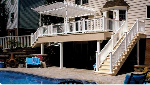 Vinyl Decking and Railings around pool