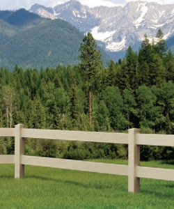 Ranch Rail Style fencing