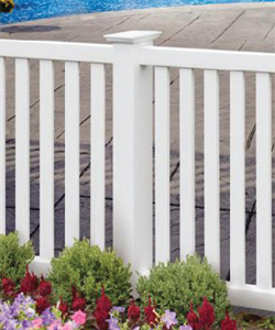 Closed Picket for vinyl fencing