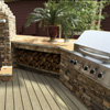 custom decking with grille